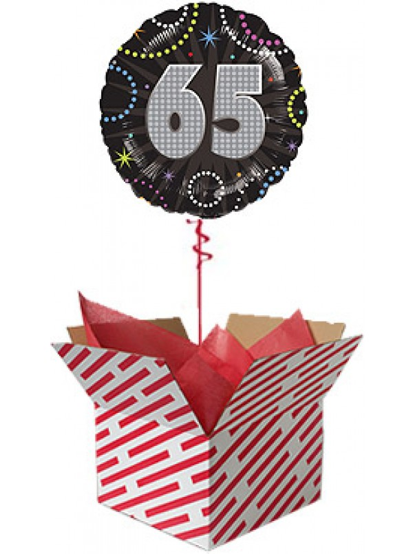 Time To Party 65th Birthday Balloon