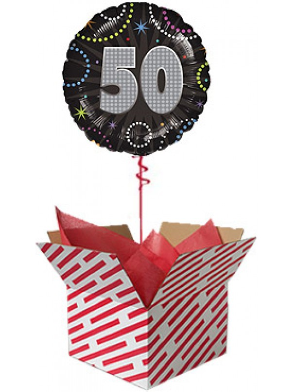 Time to Party 50th Birthday Balloon