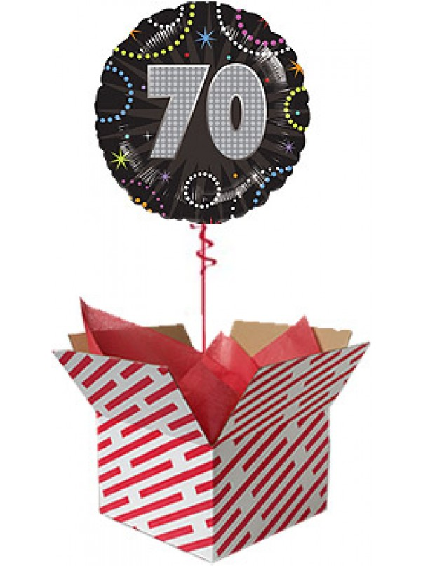 Time To Party 70th Birthday Balloon