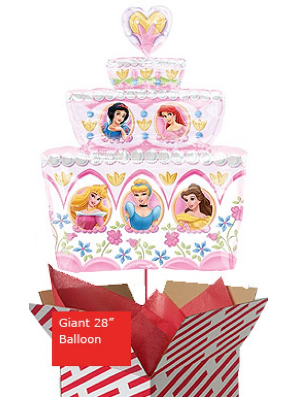 Large Disney Princess Birthday Cake Balloon