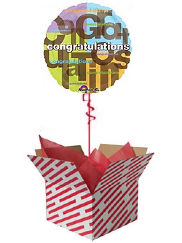 Colourful Congratulations Balloon