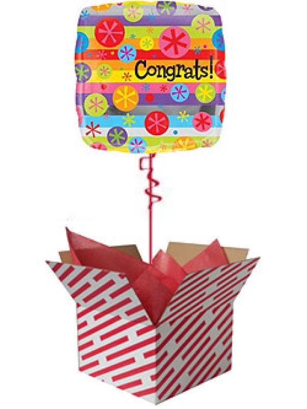 Congratulations Bright Bubbles Balloon Gift