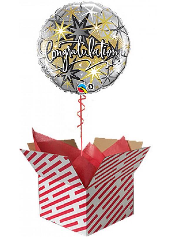 Congratulations Elegant Helium Balloon
