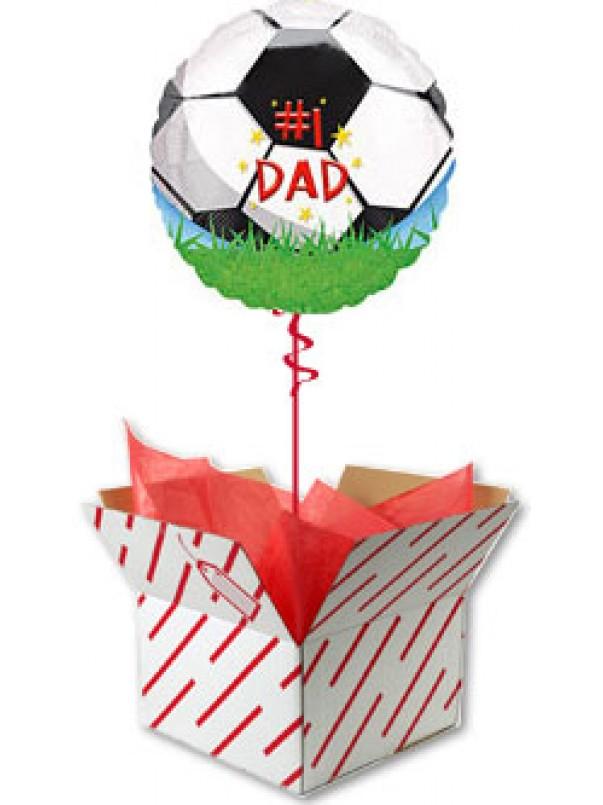#1 Dad Football Helium Balloon