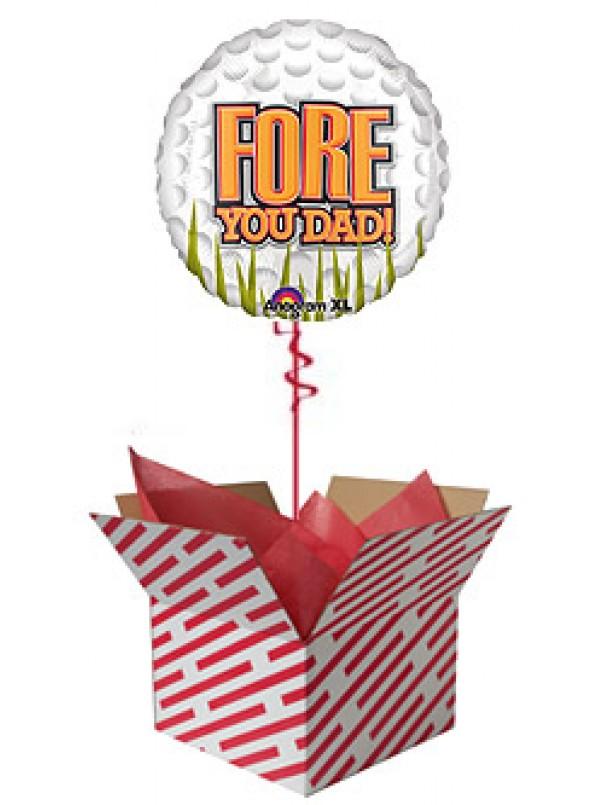Fore You Dad - Golf Ball Balloon