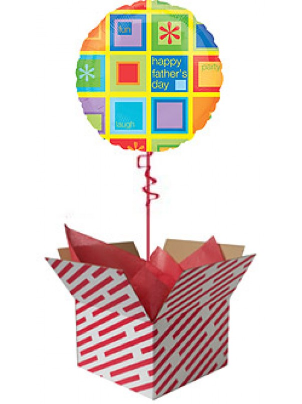 Happy Father's Day Geometric Balloon