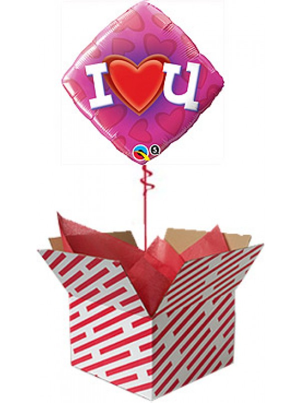 Love Heart U Balloon Gift