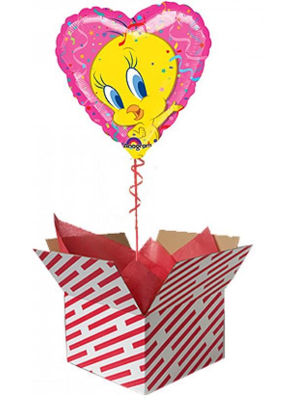 Tweety Heart Shaped Balloon