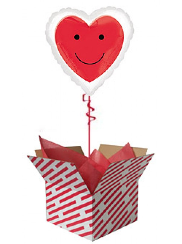 Red Smiley Heart Balloon