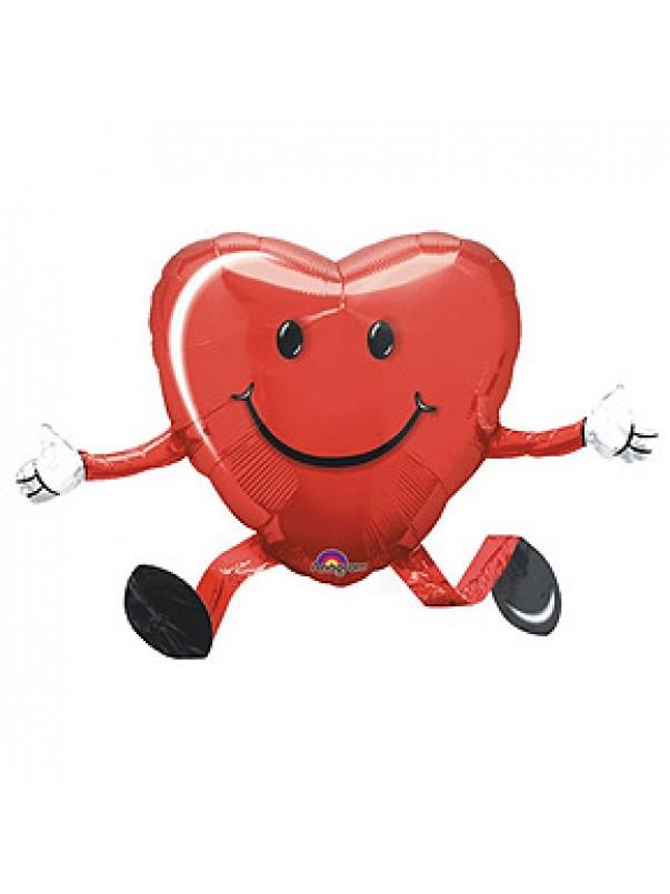 Heart Shaped Smiley Face Airwalker Balloon