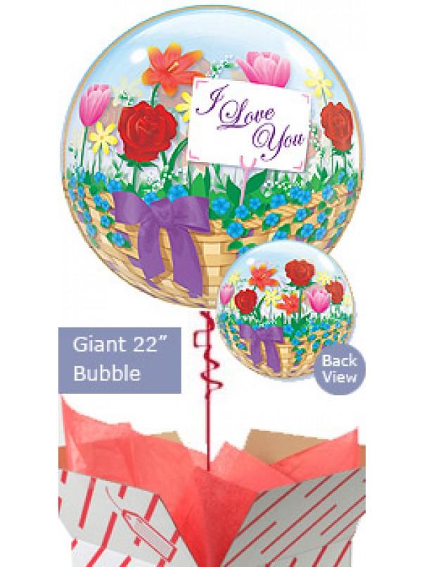 I Love You Flower Basket Balloon