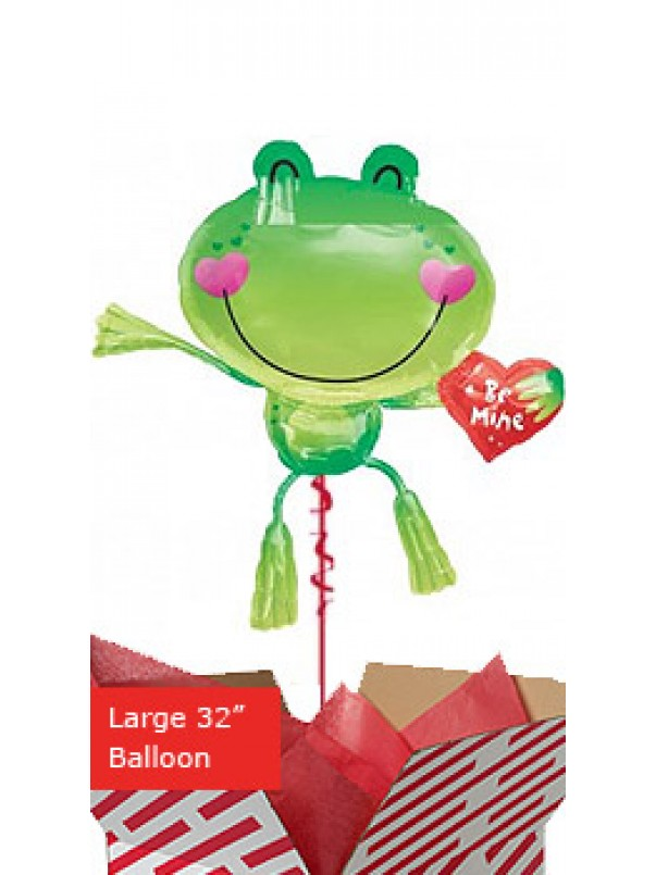 Large Be Mine Frog Balloon