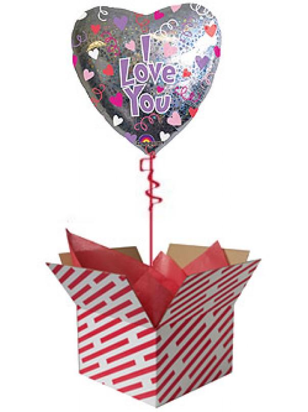 I Love You Hearts and Swirls Balloon