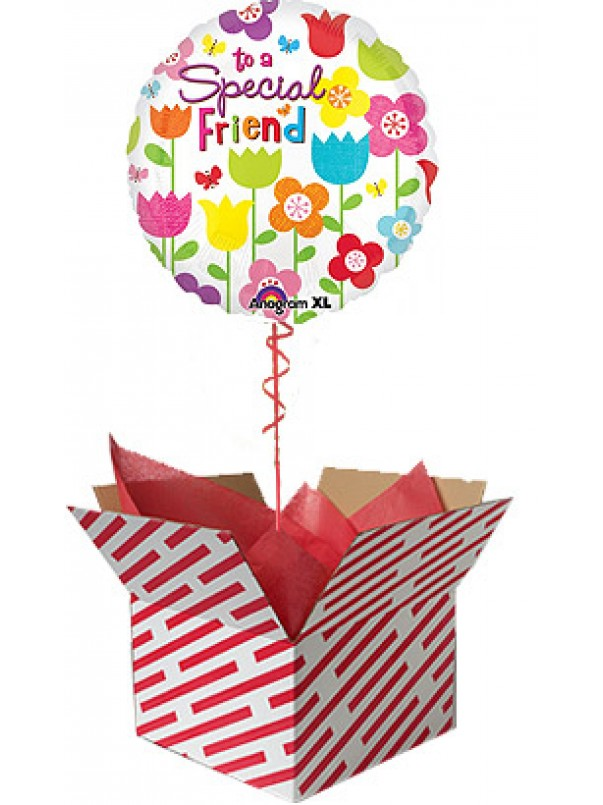 Special Friend Flowers Balloon