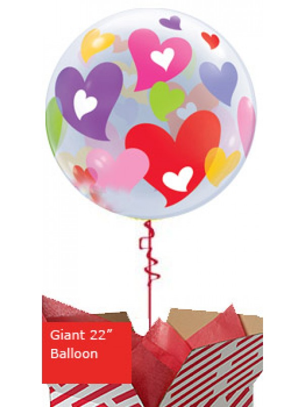Large Colourful Hearts Balloon
