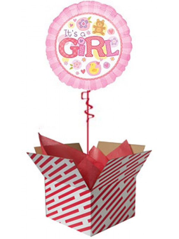 It's A Girl Balloon Gift