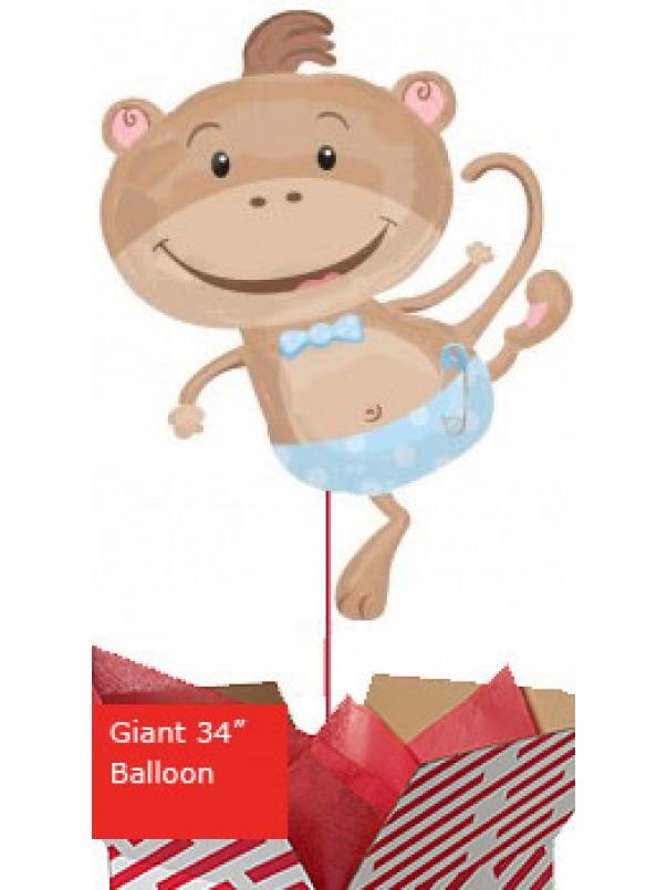 Monkey Boy Baby Balloon