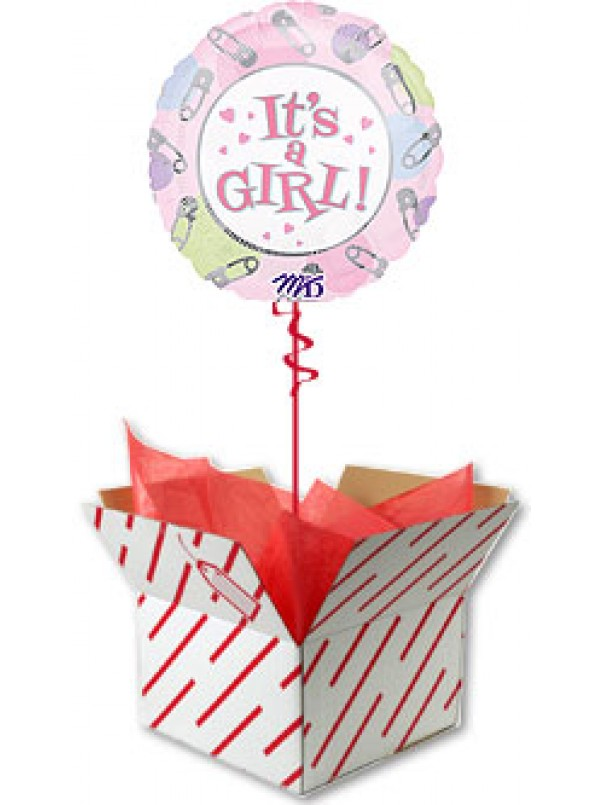 Baby Girl Gift Pack - Balloon and Bear