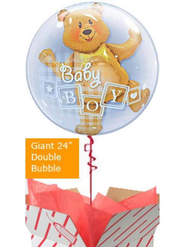 Baby Boy Bear Balloon Gift