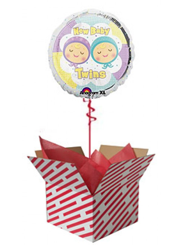 New Baby Twins Balloon Gift
