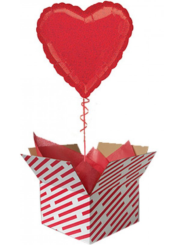 Red Dazzler Heart Shaped Balloon