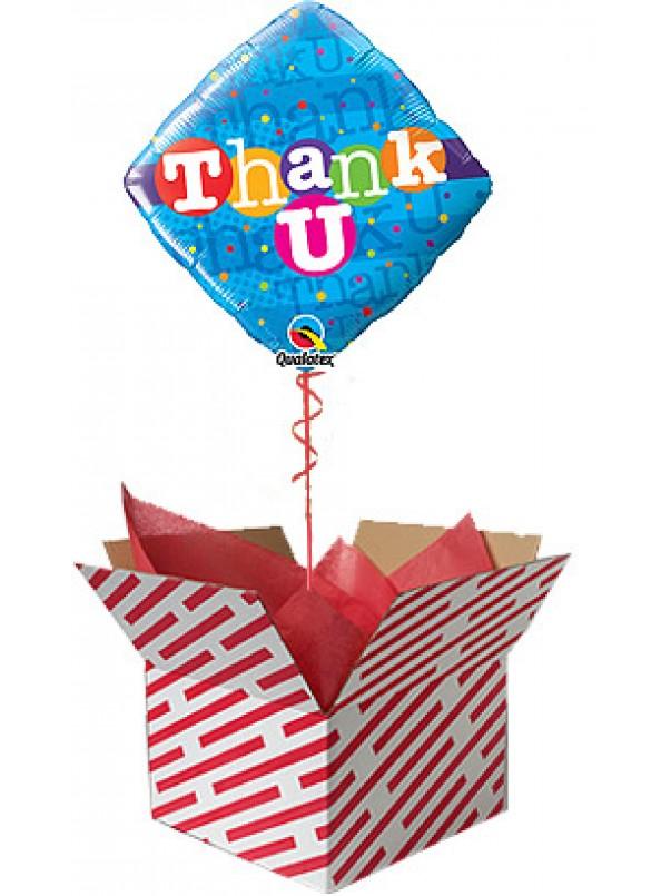 Thank U Colourful Dots Balloon Gift