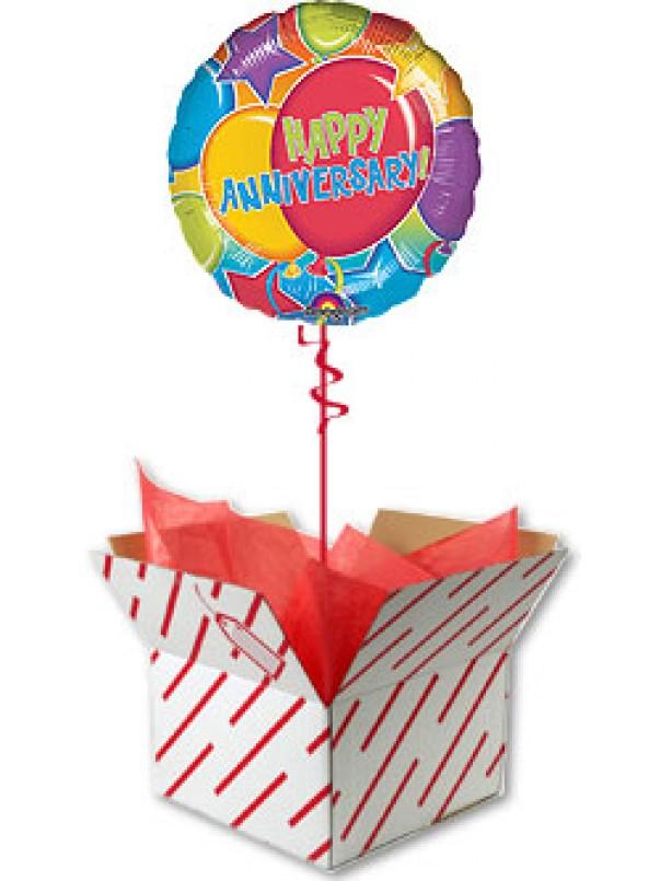 Happy Anniversary Glitter Balloon