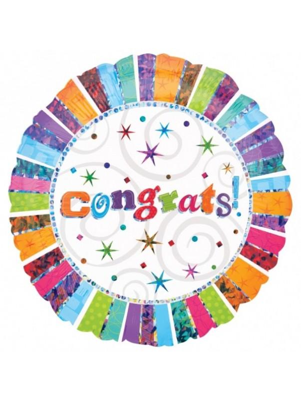Congrats Radiant Foil Balloon