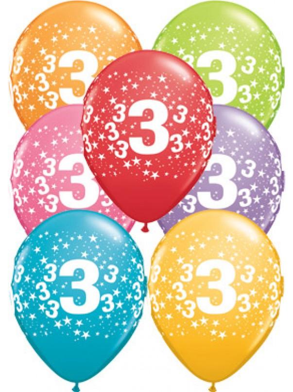 3rd Birthday Stars Balloons