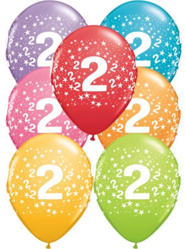 2nd Birthday Stars Balloons