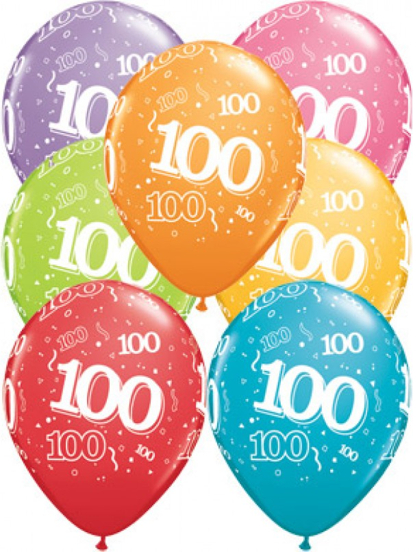 100th A-Round Birthday Balloons