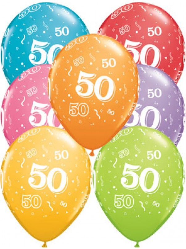 50th A-Round Birthday Balloons
