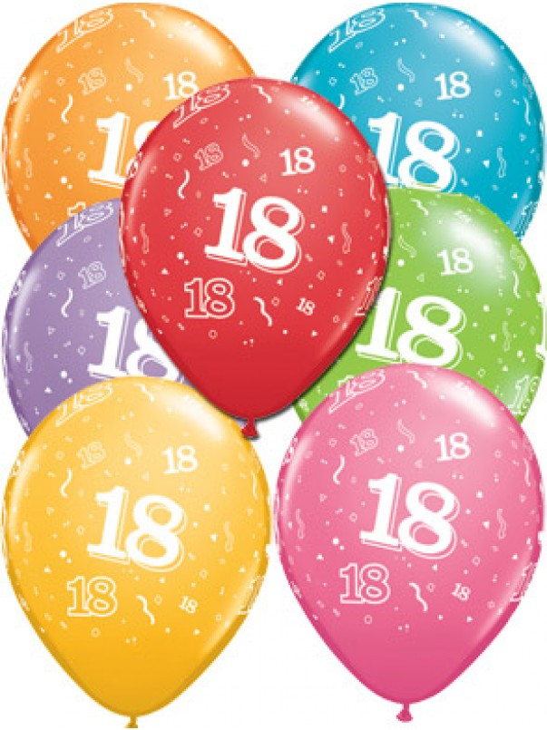 18th A Round Birthday Balloons