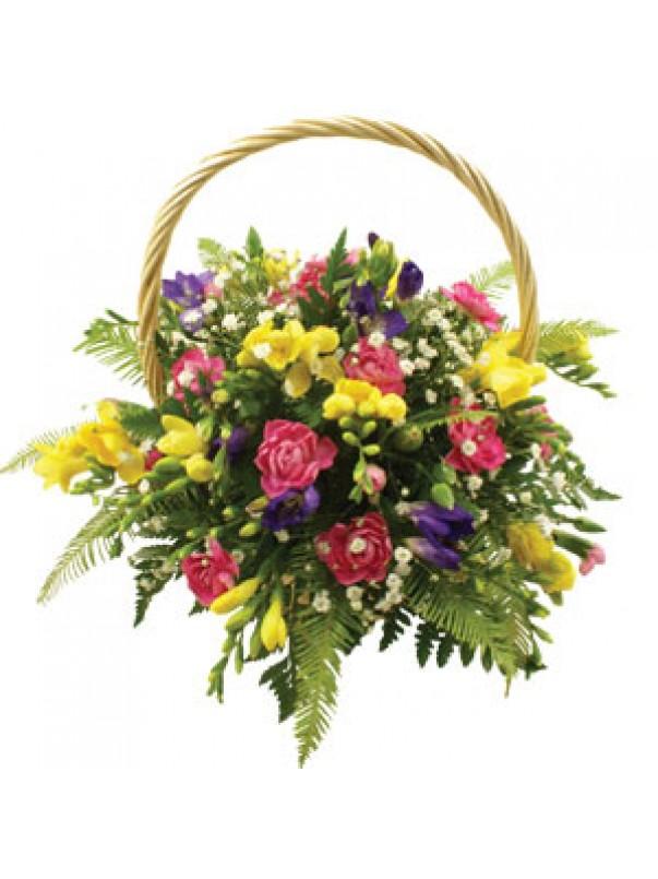 Freesia Flower Basket