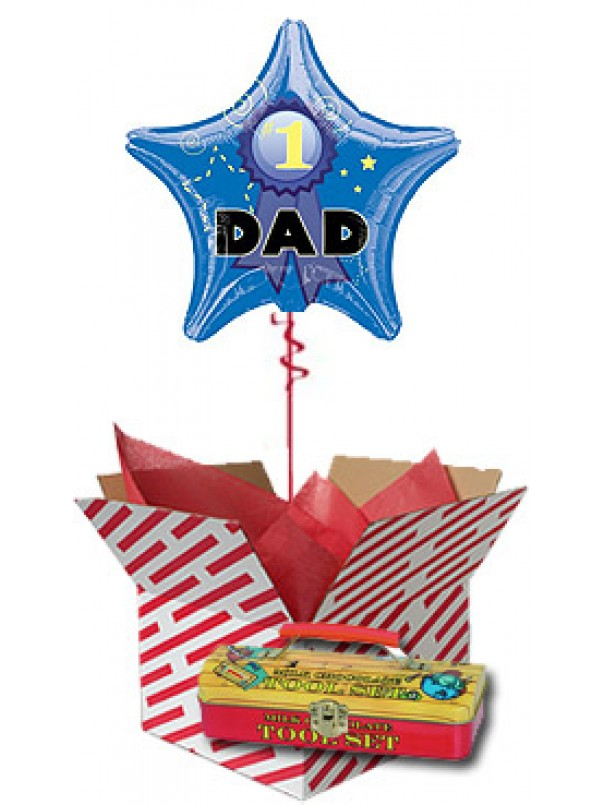 Balloon and Chocolate Tools Gift for Dad