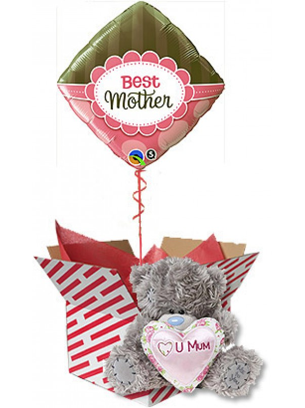 Special Gift For Mum - Teddy Bear and Balloon