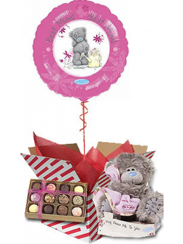 Me to You Gift for Mum - Balloon, Bear and Chocolates