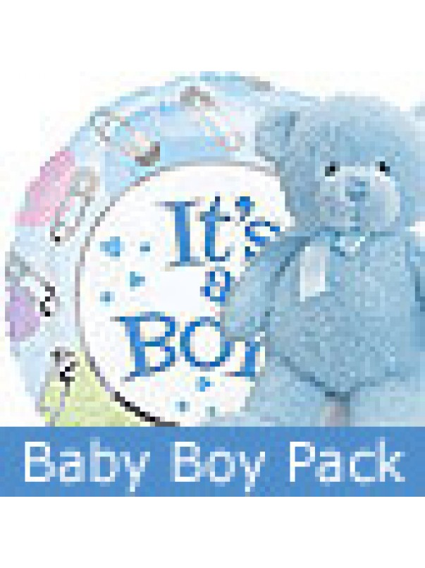 Baby Boy Gift - Balloon and Teddy Bear