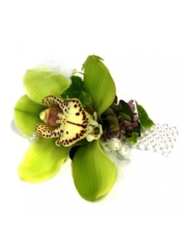 Green Cymbidium Corsage
