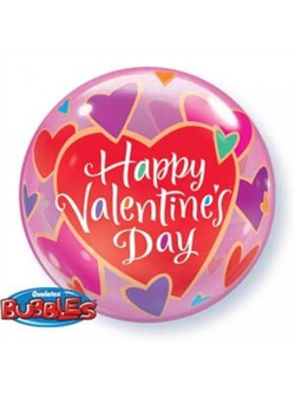 Happy Valentines Day - Colourful Hearts
