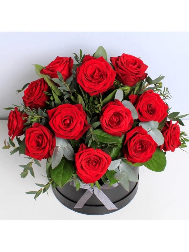 Valentines Roses Hat Box