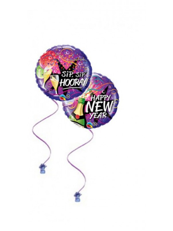 Happy New Year 18 Foil Balloon