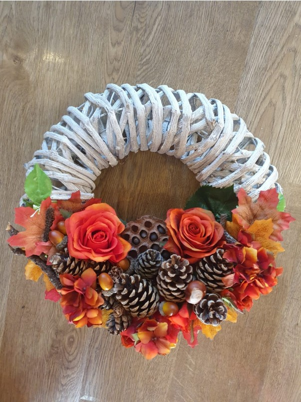 Modern Autumn Wreath