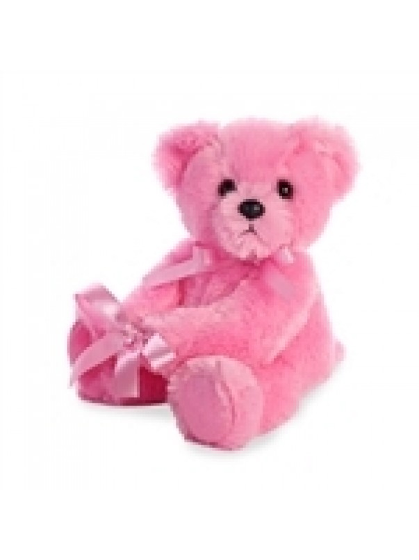 "New Baby Girl Pink Teddy (14"")"