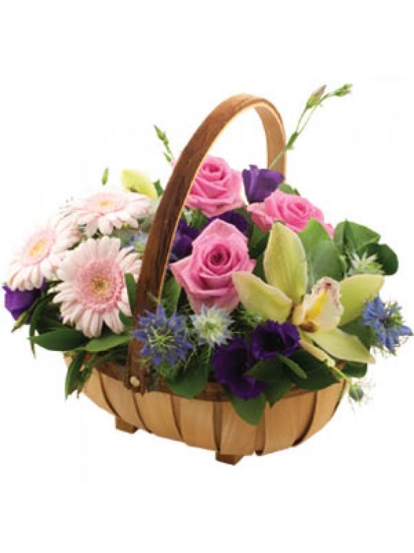 Pretty Floral Basket