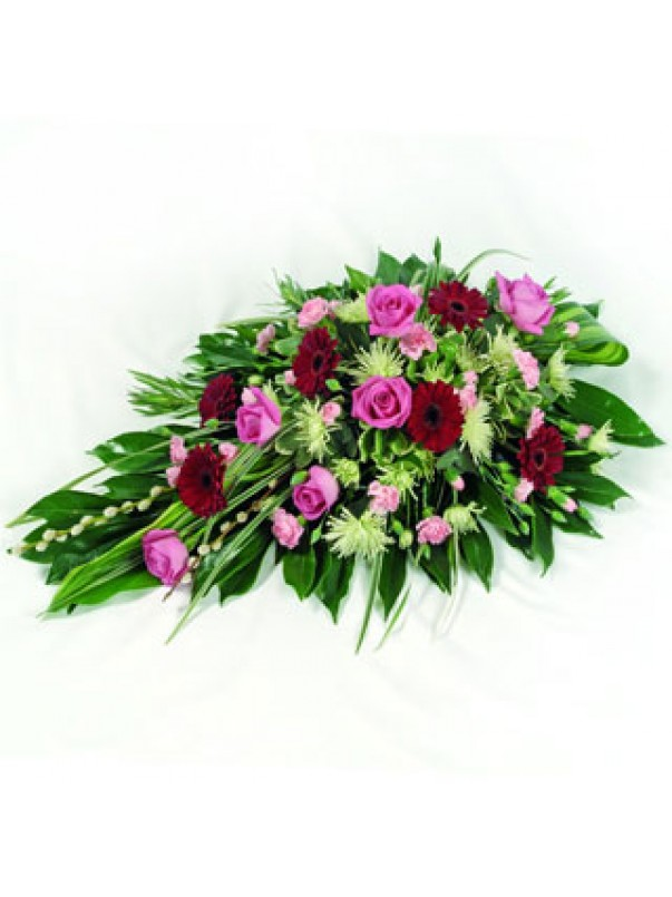Pink & Red Funeral Spray