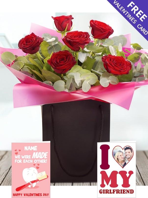 Romance Six Roses