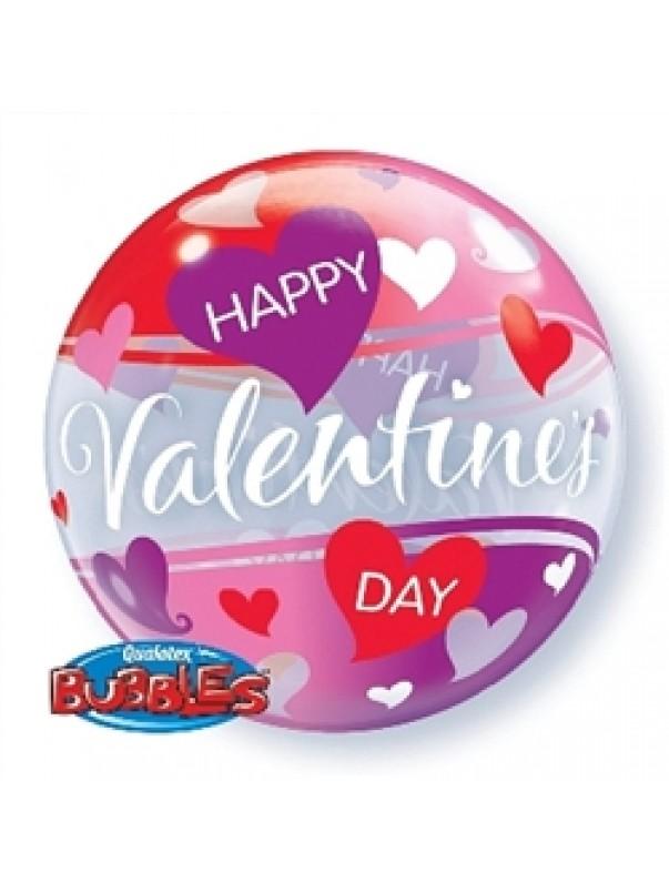 Happy Valentines Day Purple Hearts