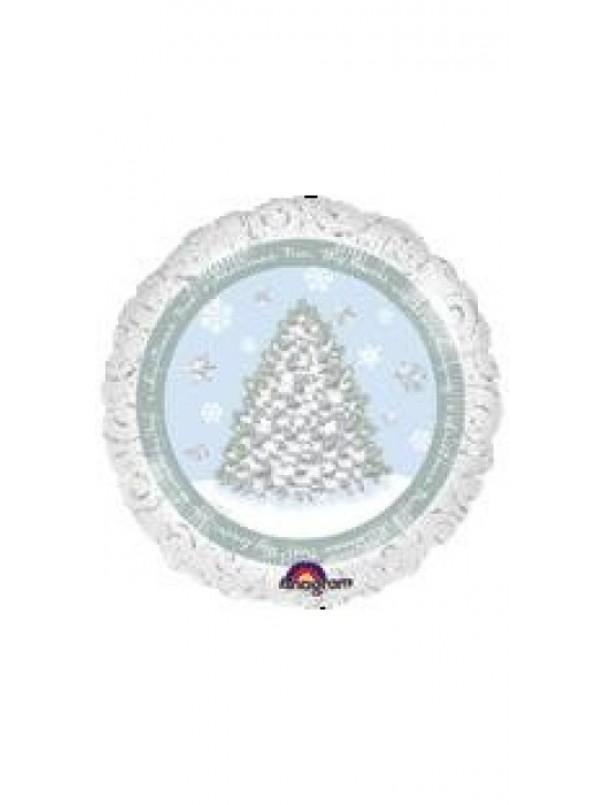 White Christmas 18 Foil Balloon