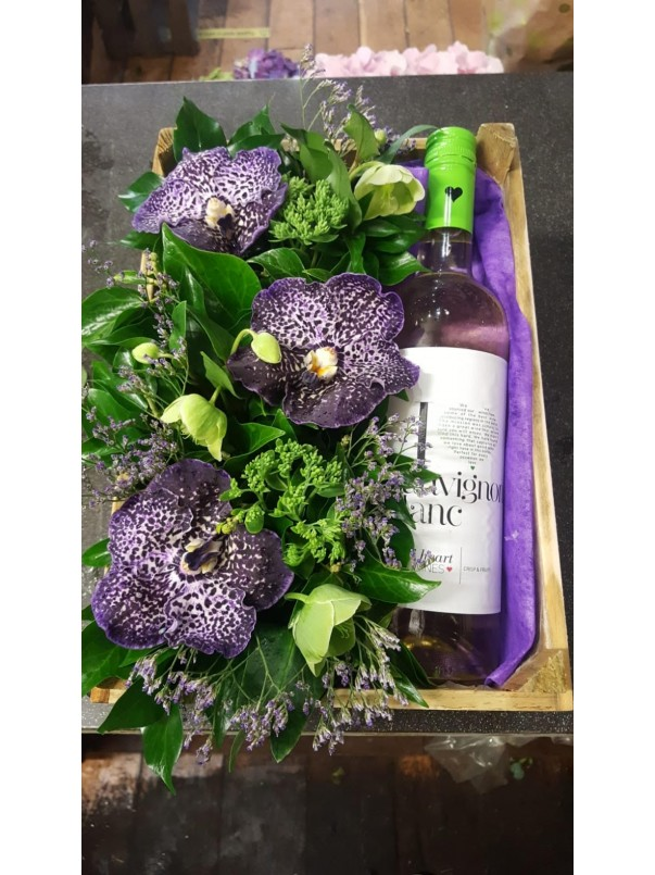 Wine Flower Crate